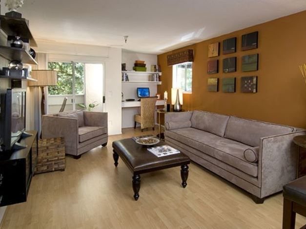 Living room at Avalon Walnut Creek Apartment