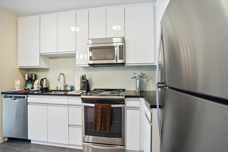 Kitchen at Azure Apartments, Mission Bay, San Francisco