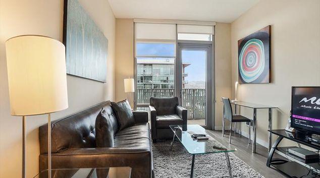 Lounge at Azure Apartments, Mission Bay, San Francisco