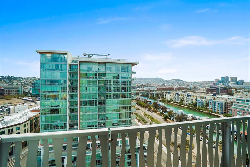 Balcony at Azure Apartments, Mission Bay, San Francisco