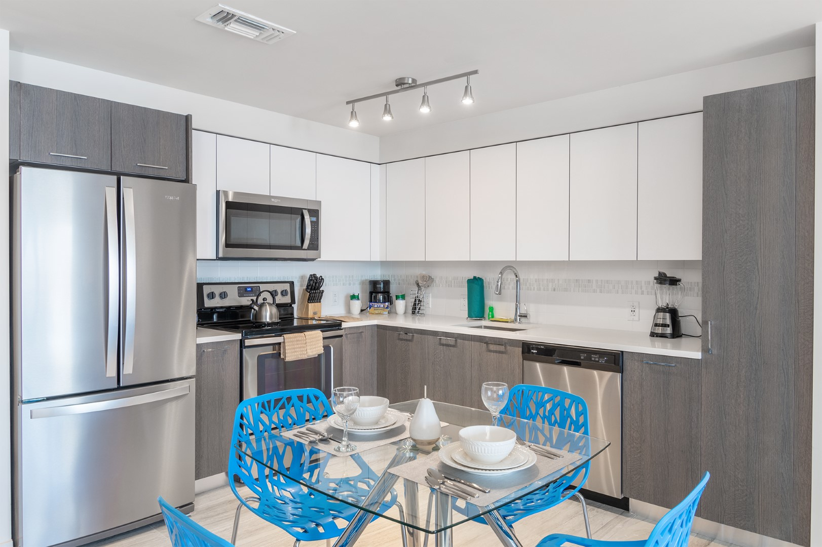 Kitchen diner at Caoba Miami Worldcenter  Apartments, Downtown, Miami