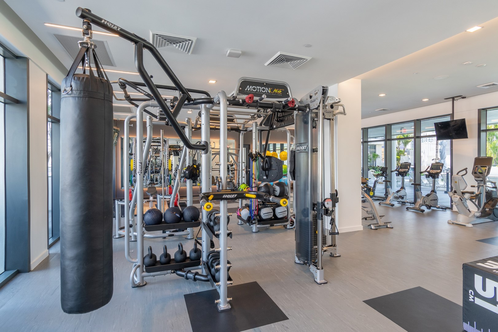 Gym at Caoba Miami Worldcenter  Apartments, Downtown, Miami
