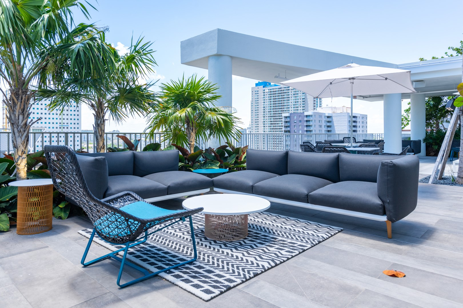 Deck at Caoba Miami Worldcenter  Apartments, Downtown, Miami