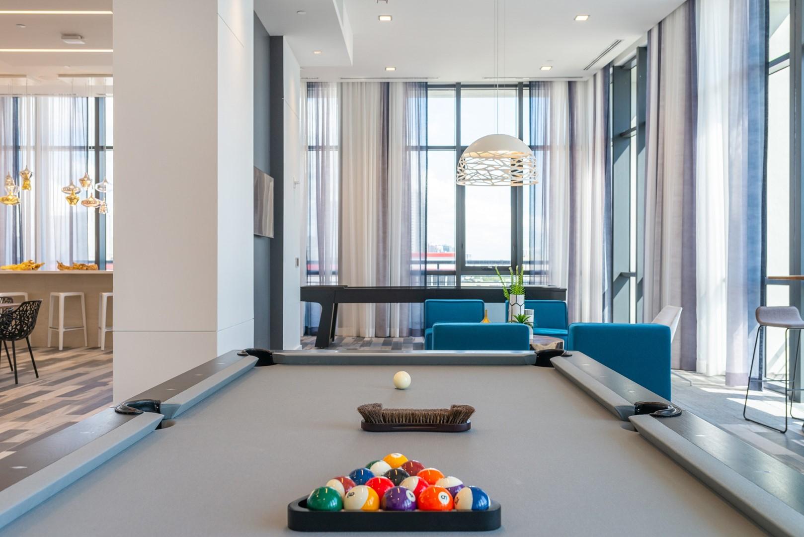 Games room at Caoba Miami Worldcenter  Apartments, Downtown, Miami