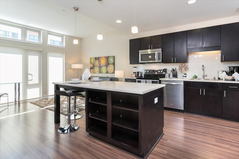 Breakfast bar at Channel Mission Bay Apartments