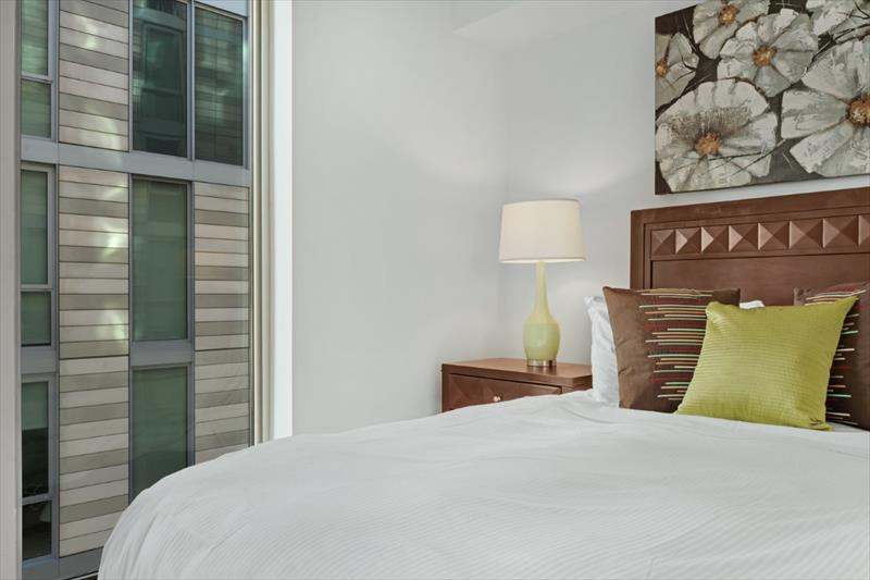 Bedroom at City Center Apartments