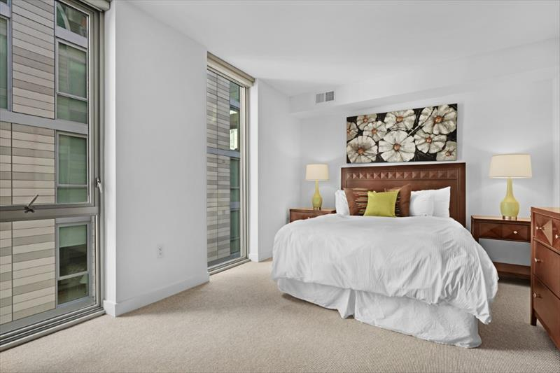 Bed at City Center Apartments