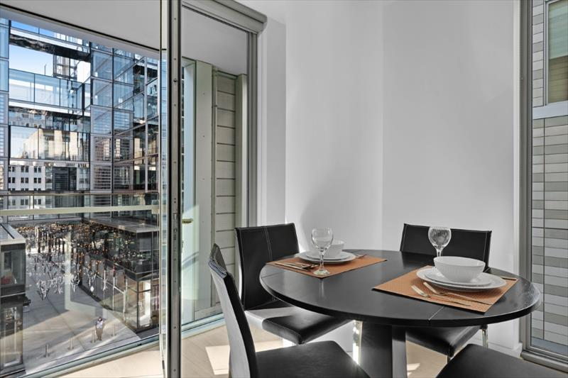 Dining area at City Center Apartments