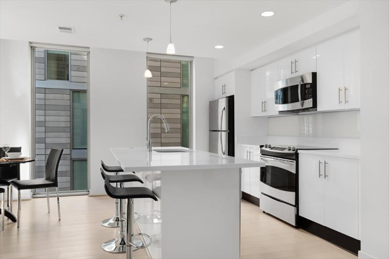 Kitchen at City Center Apartments