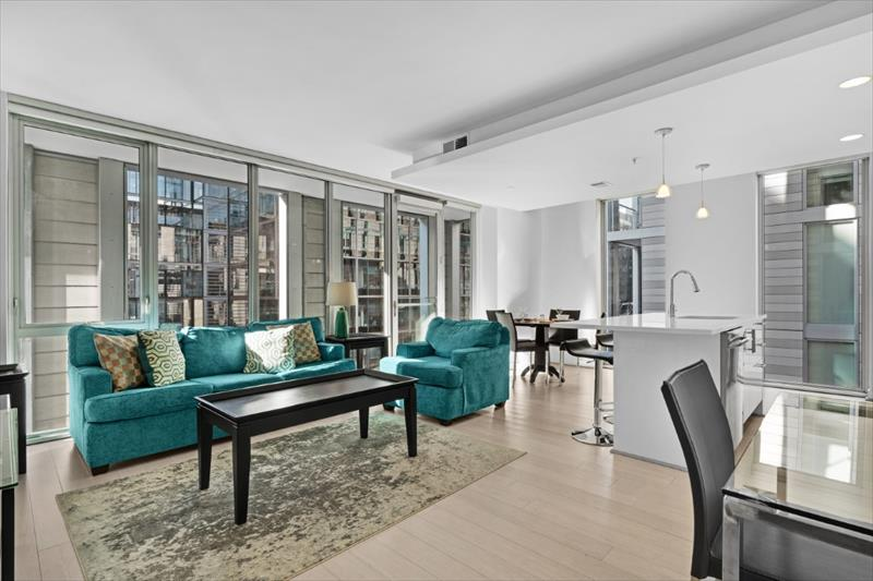 Lounge at City Center Apartments
