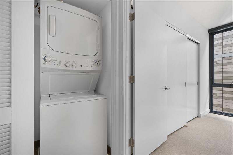 Laundry facilities at City Center Apartments
