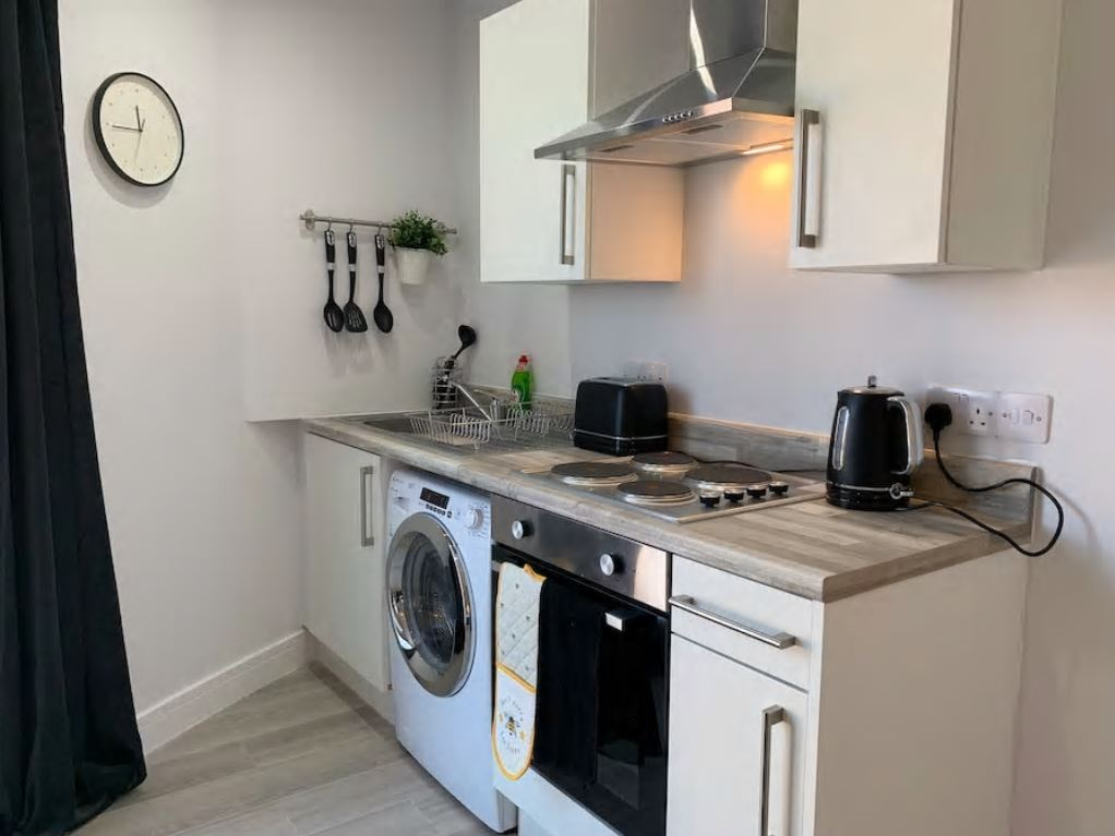 Kitchen at Barall Court Apartments