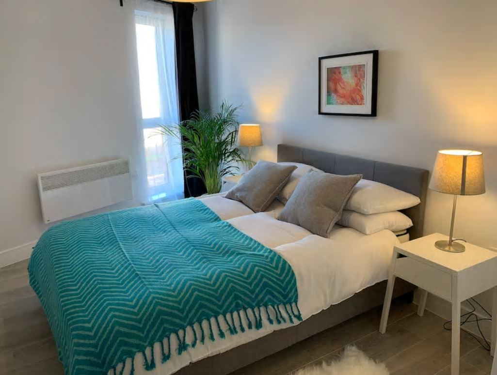 Bedroom at Barall Court Apartments