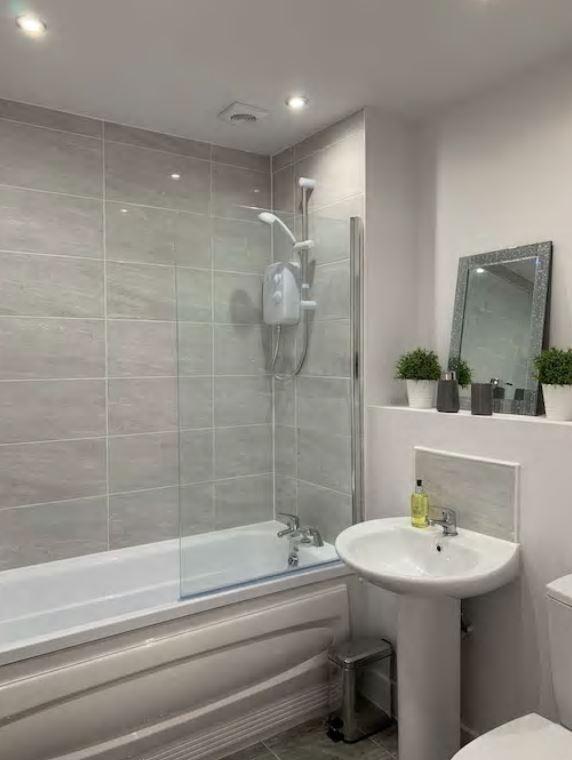 Bathroom at Barral Court Apartments