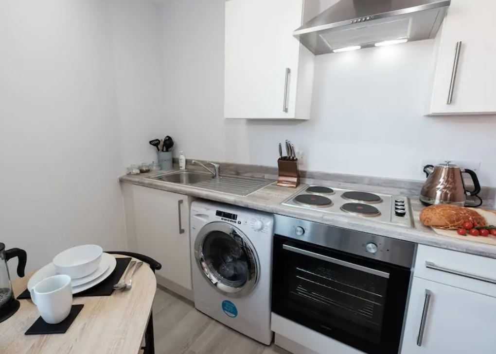 Oven at Barrall Court Apartments