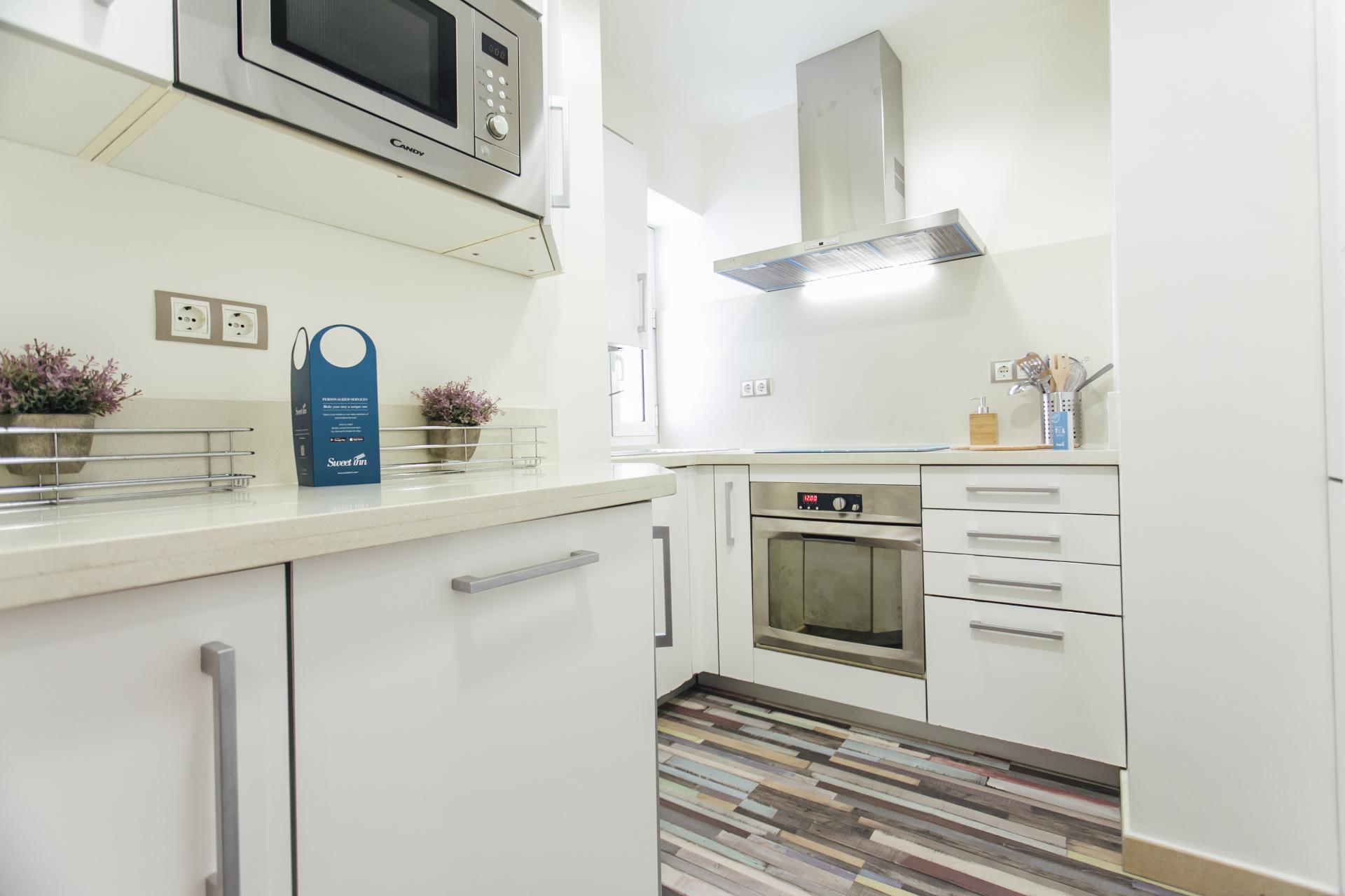 Kitchen at Arjona Apartment, Centre, Seville