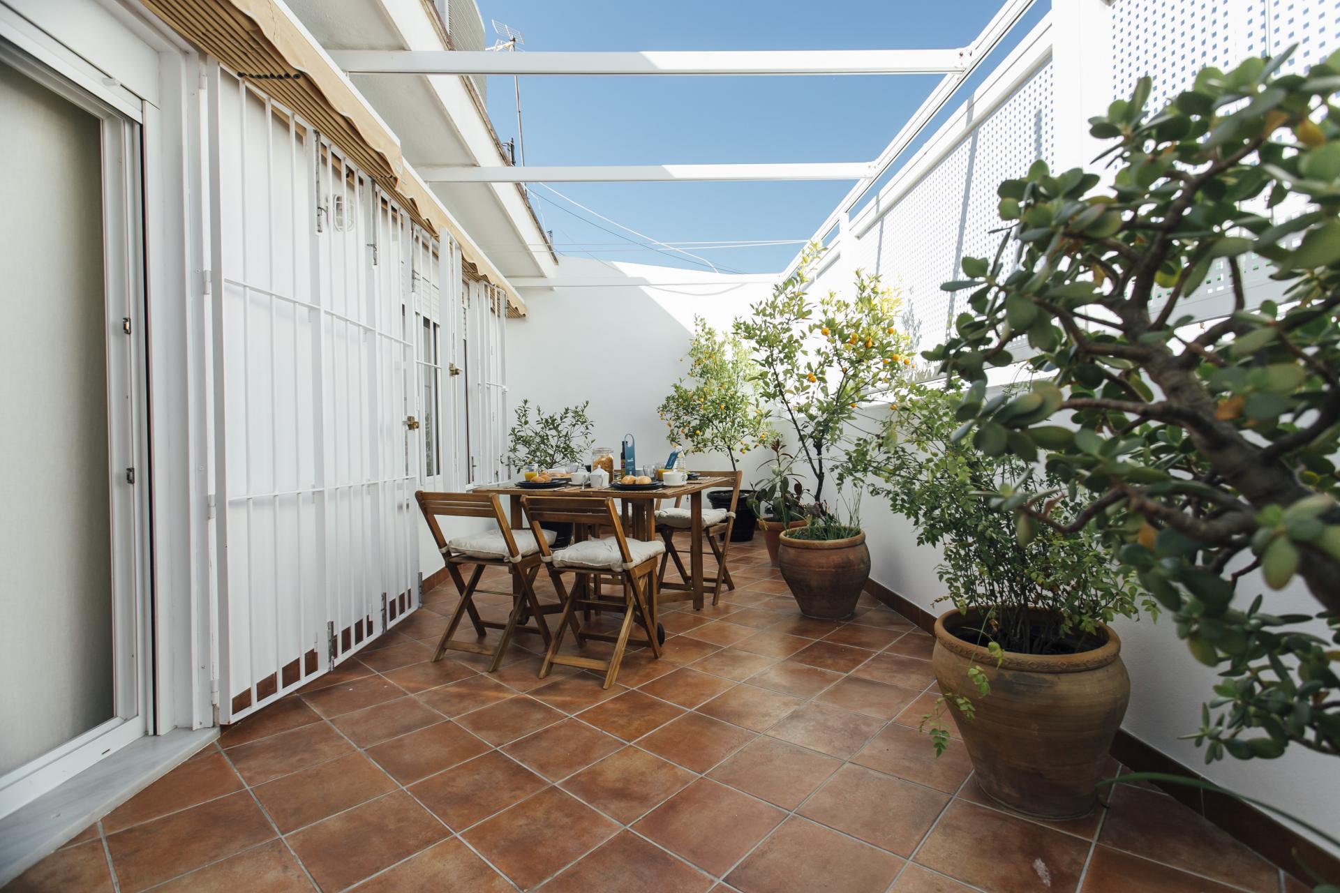 Balcony at Arjona Apartment, Centre, Seville