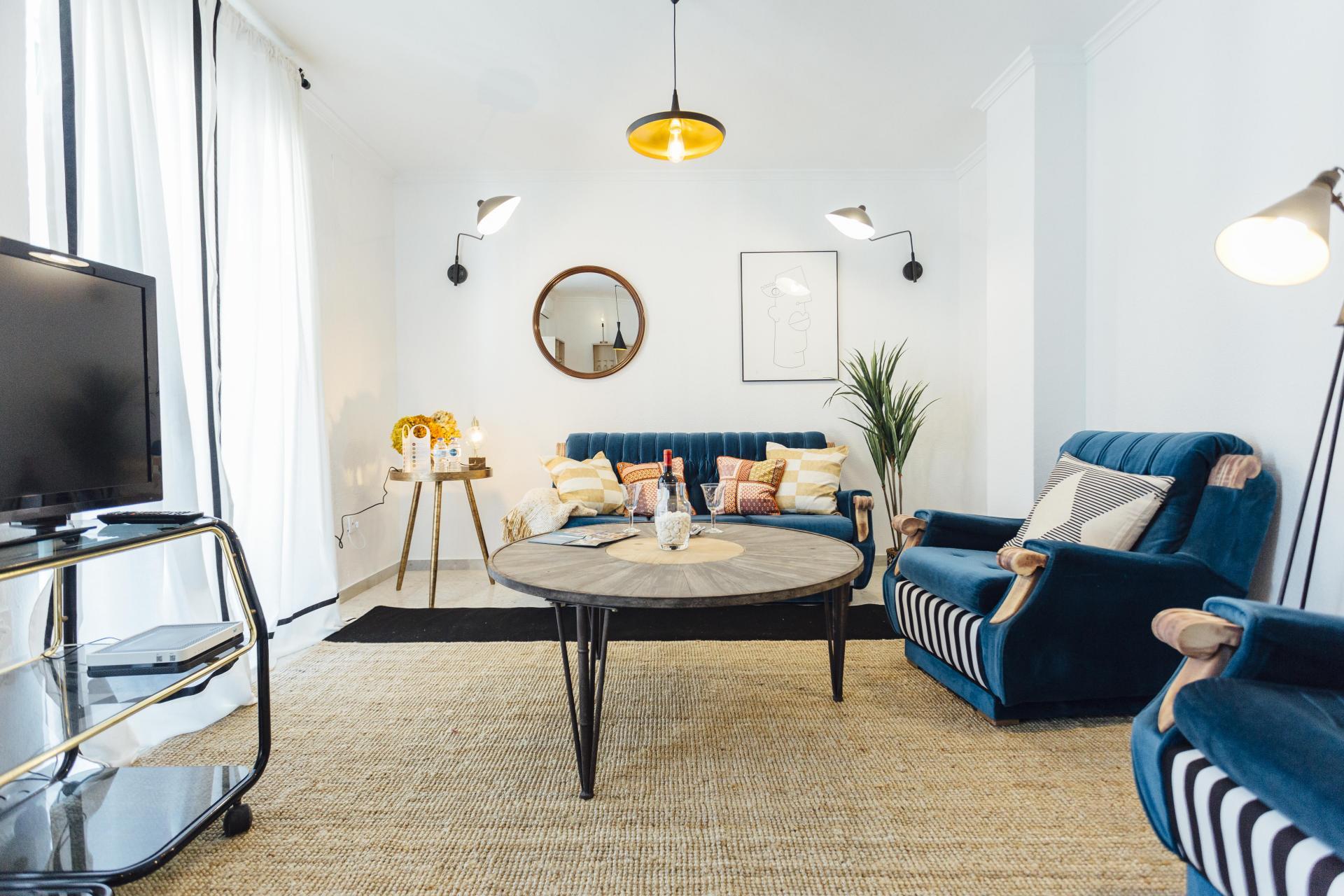 Living area at Plaza de Zurradores Apartment