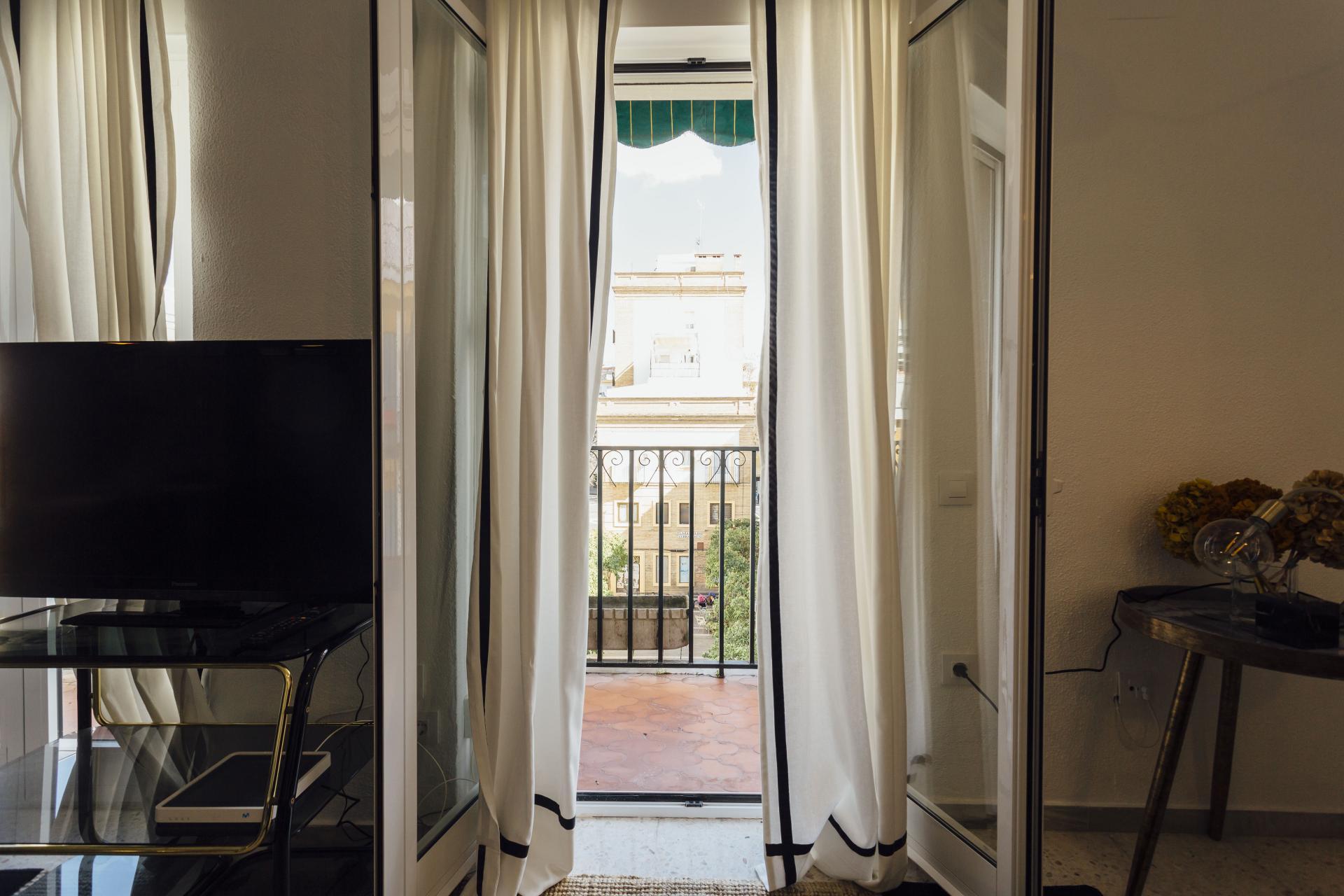 Balcony at Plaza de Zurradores Apartment