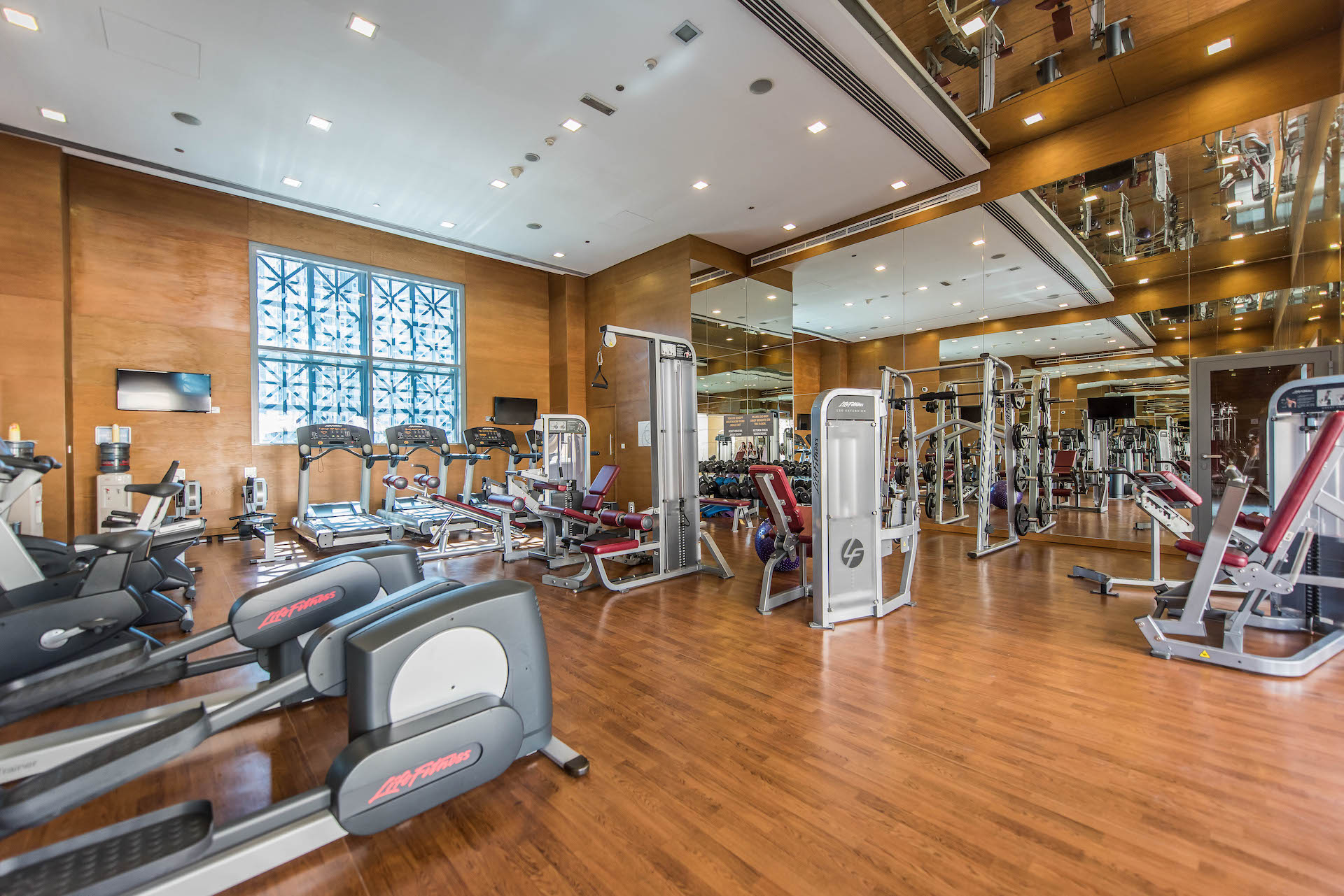 Gym at Claren Tower Apartment