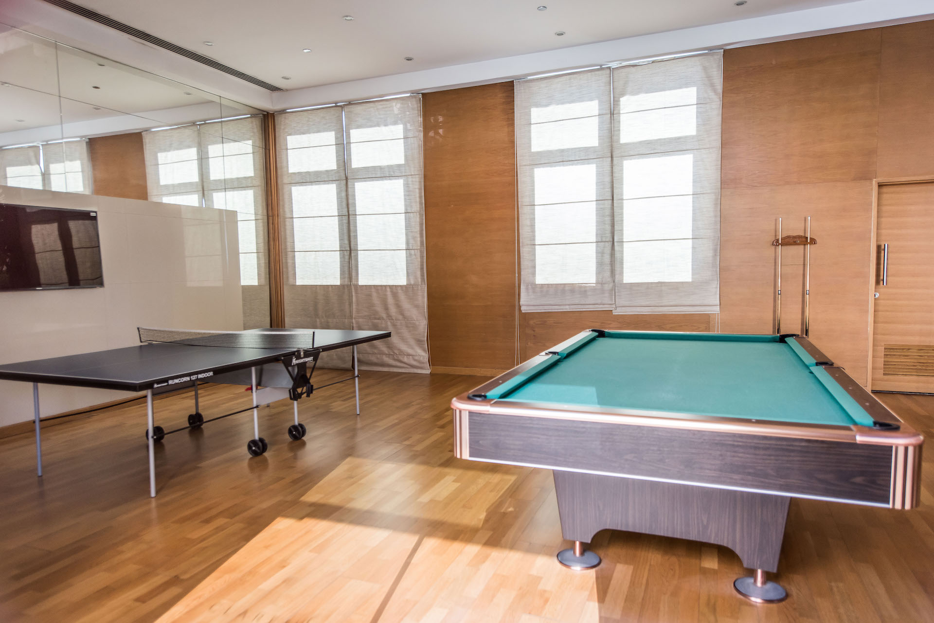 Pool table at Claren Tower Apartment