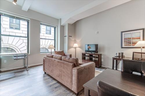 Living Room at City Place Apartments