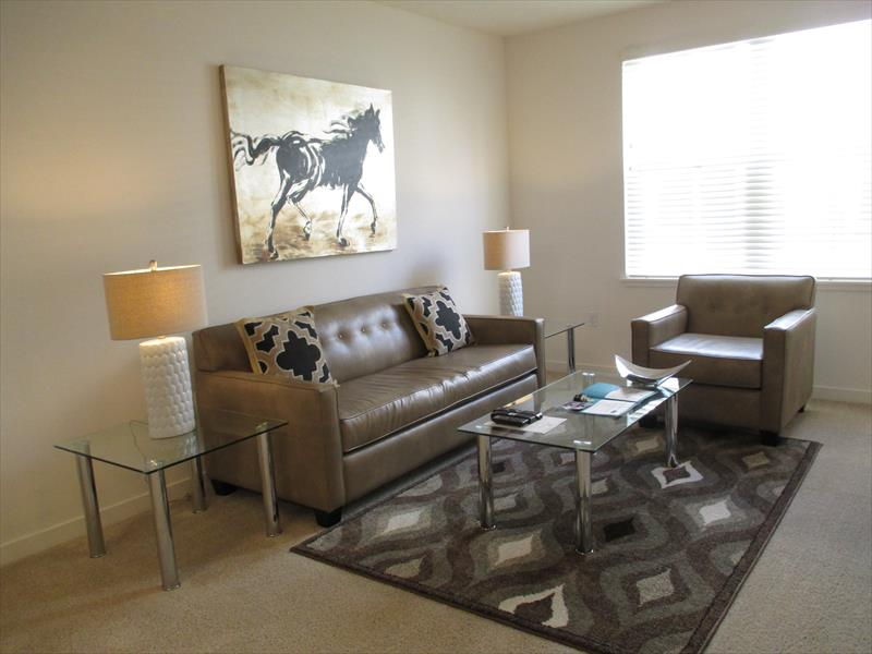 Living area at Epic Serviced Apartments
