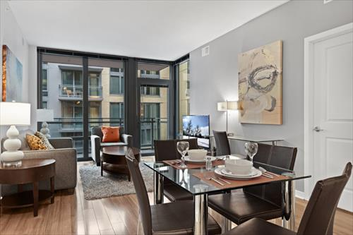 Dining area at Flats 8300 Apartments