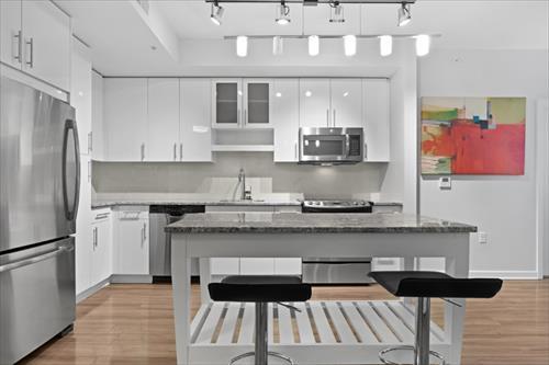 Kitchen at Flats 8300 Apartments