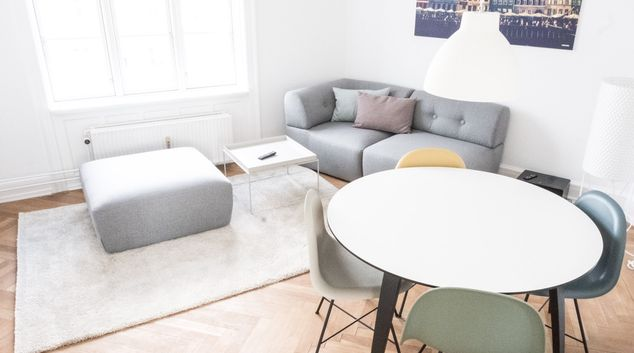 Living room at Frederikssundsvej Apartments