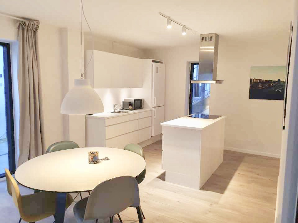 Kitchen at Aarhus Serviced Apartments