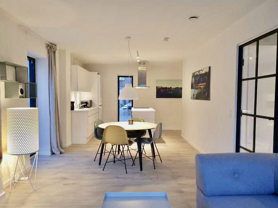 Spacious dining area at Aarhus Serviced Apartments