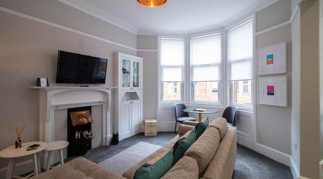 Living room at Nairn Apartment