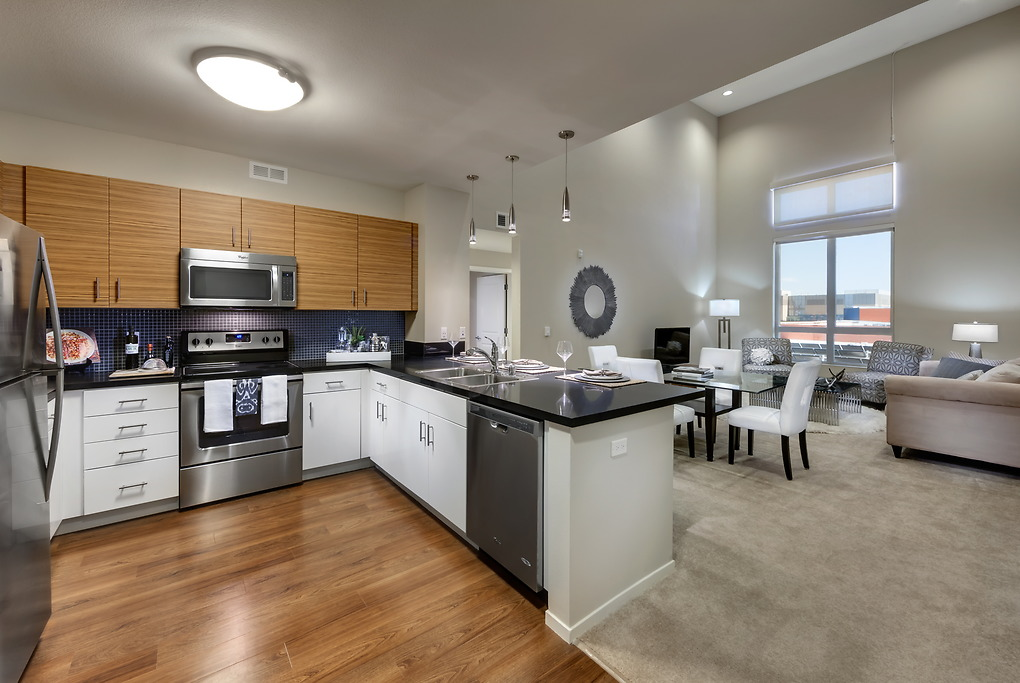 Kitchen at MB360 I Apartments