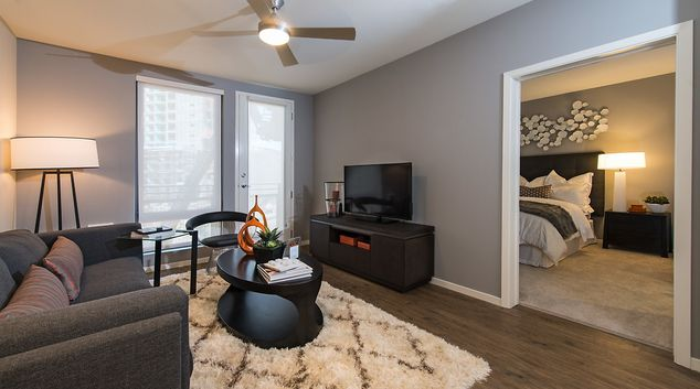 Living area at MB360 I Apartments