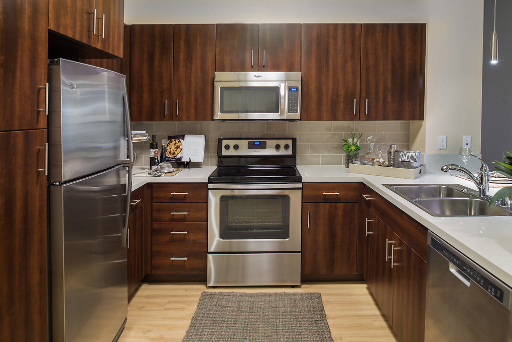 Equipped kitchen at MB360 I Apartments