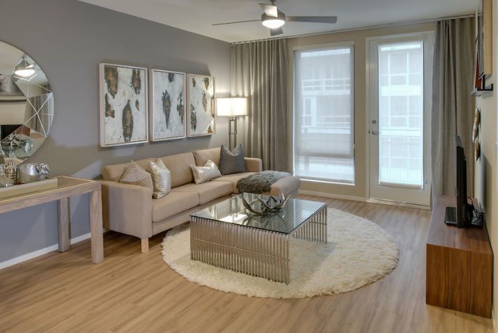 Living area at MB360 II Apartments