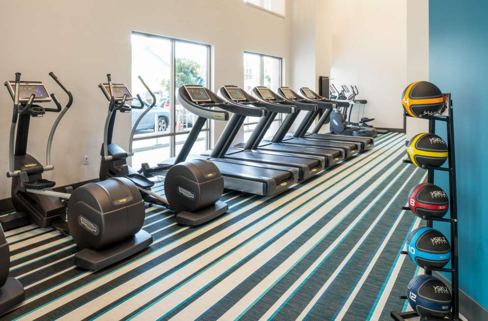 Gym at MB360 II Apartments