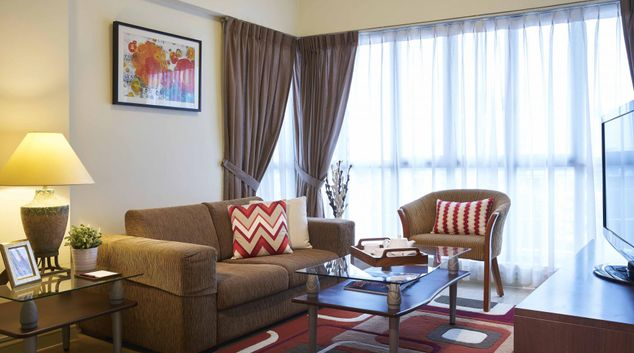 Living room at Hougang Residence, Singapore