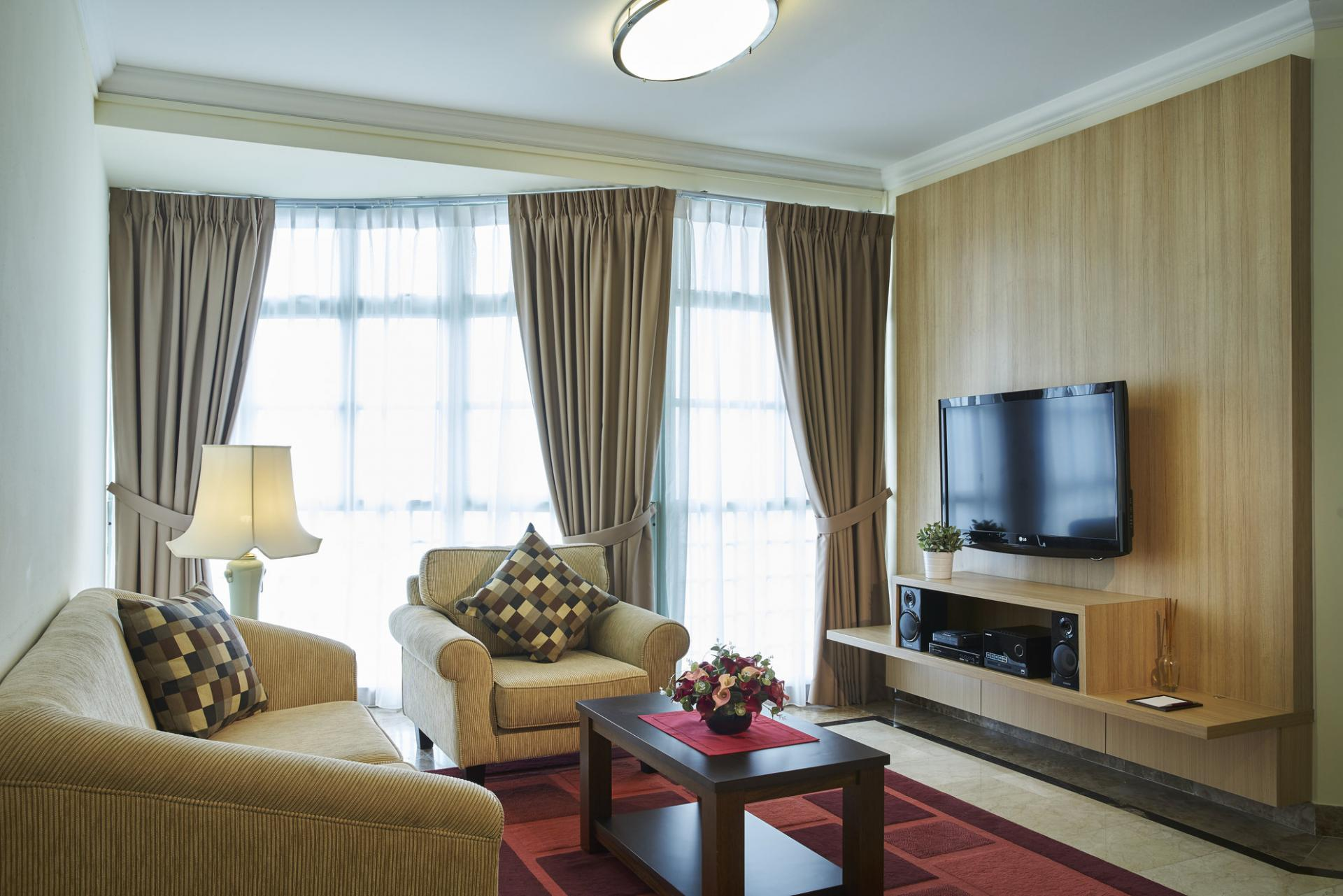 Living room at Village Residence West Coast, Singapore