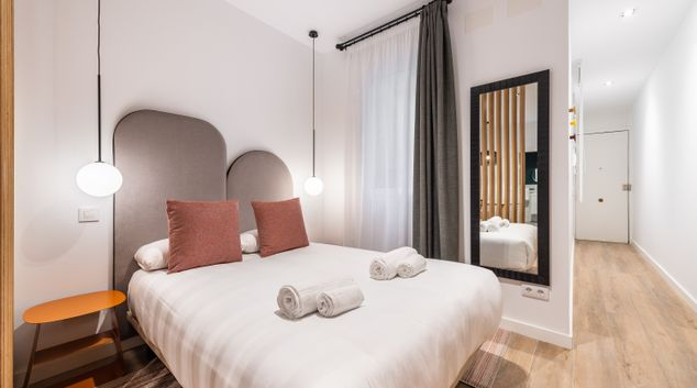 Bedroom at Atocha Suite One Apartments, Centre, Madrid