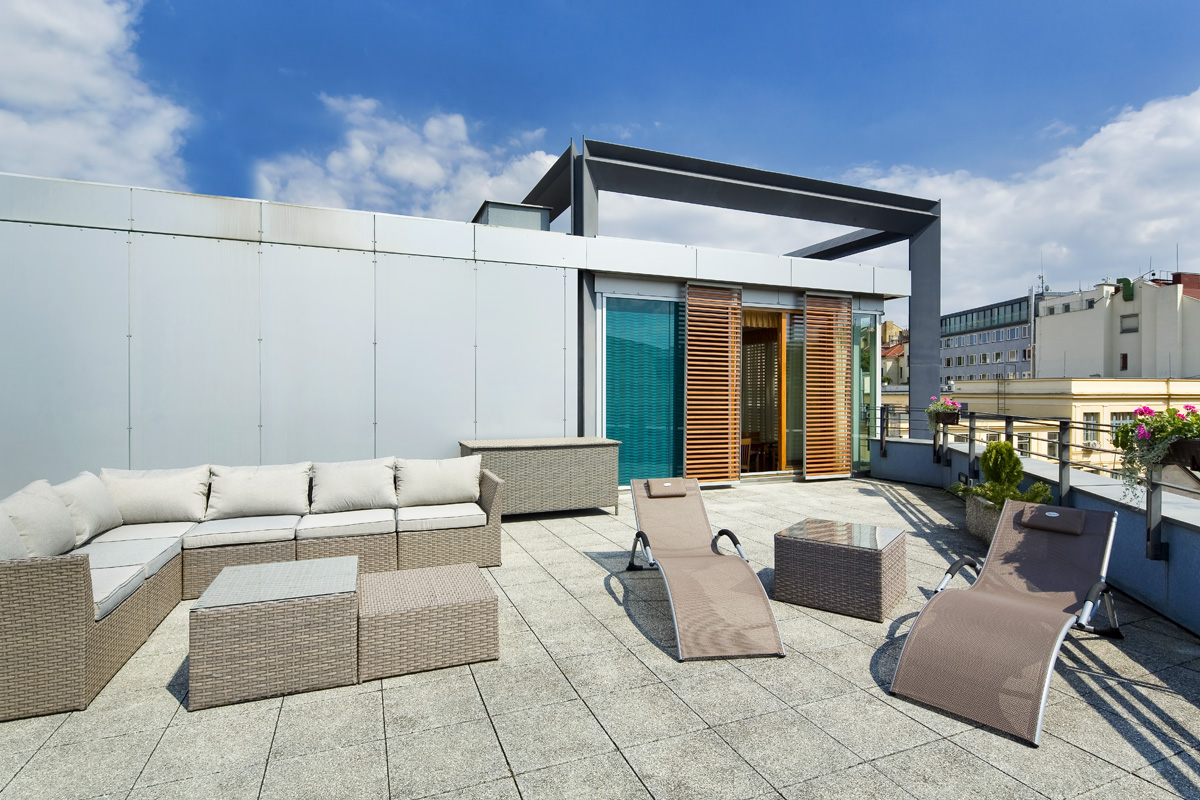 Roof terrace at Mamaison Residence Downtown Prague