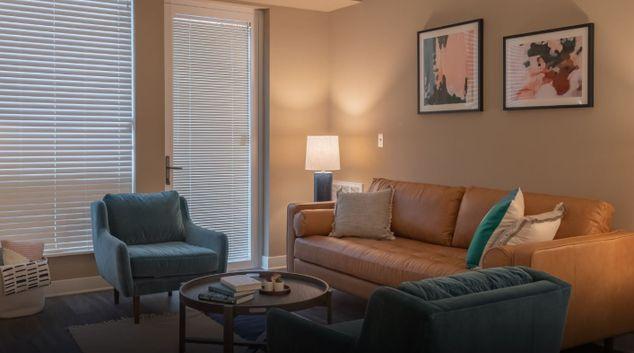 Living Room at Elan Yorktown Apartments