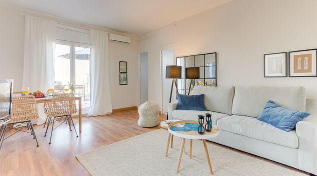 Living room at Rocafort II Apartments