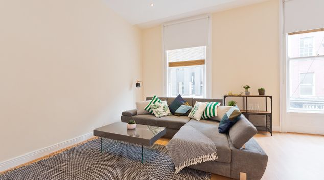 Living area at Talbot Street Apartment