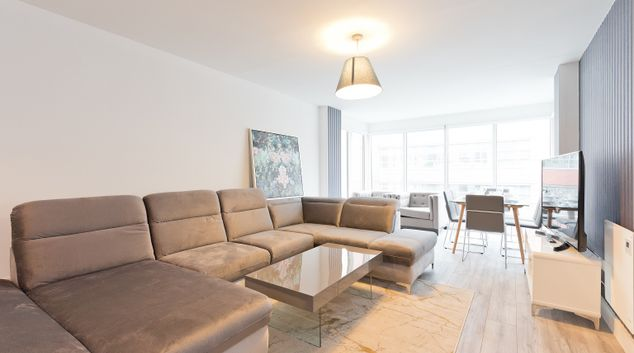 Living area at Trinity Gate Apartment