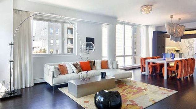 Living area at Renwick Apartments