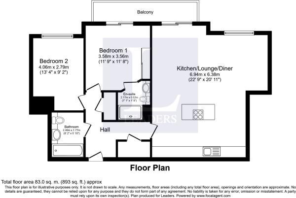 Floor plan 3 at Gunwharf Quays Serviced Apartments