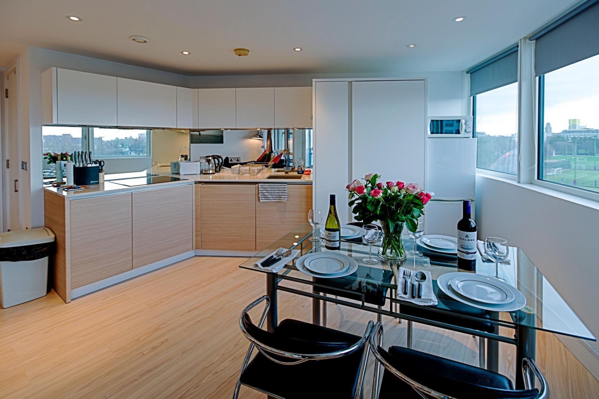 Kitchen at Gunwharf Quays Serviced Apartments
