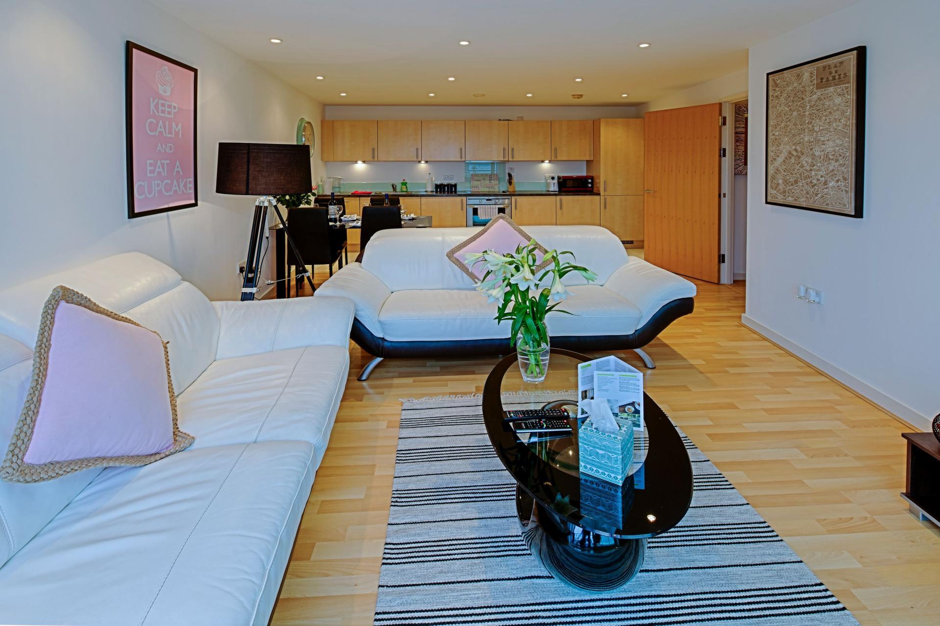 Sofa at Gunwharf Quays Serviced Apartments
